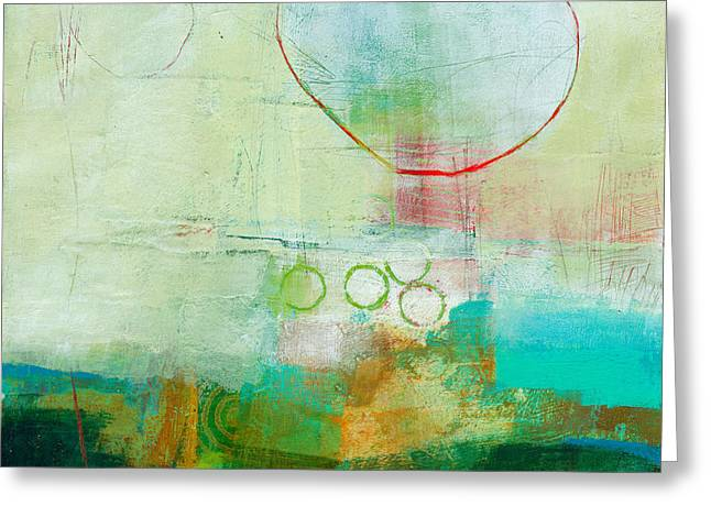 Green And Red 6 Greeting Card by Jane Davies