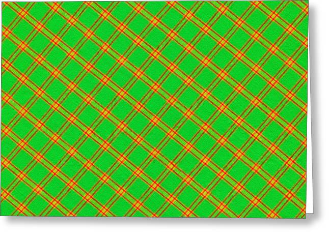 Green And Red Fabric Background Greeting Card by Keith Webber Jr