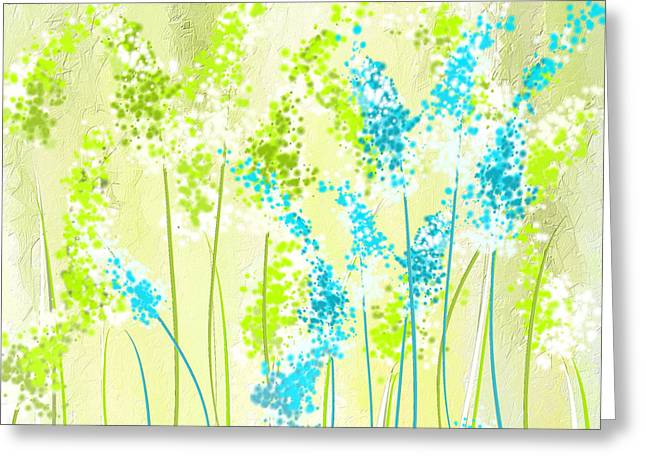 Green And Turquoise Greeting Card