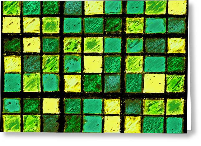 Green And Yellow Sudoku Greeting Card