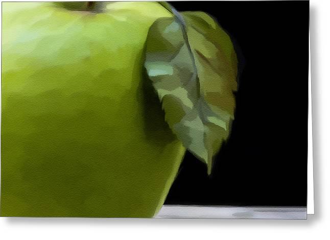 Green Apple Greeting Card by Nina Bradica