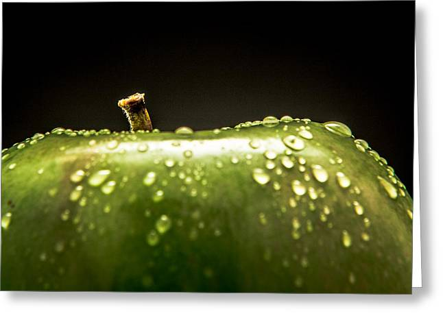Green Apple Greeting Card by Wade Brooks