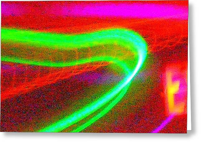 Green Band Greeting Card by James Welch