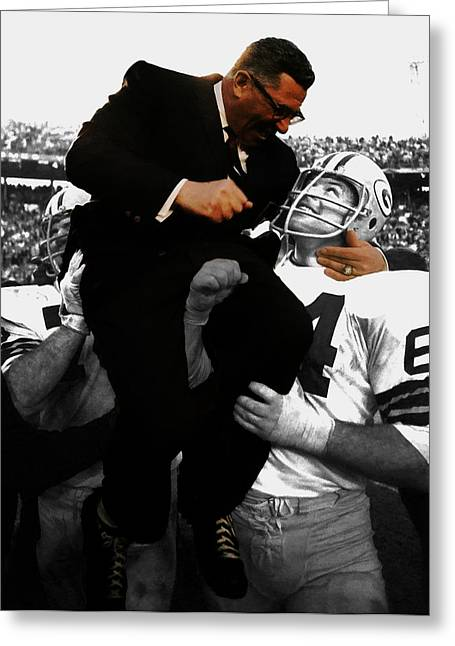 Vince Lombardi Green Bay Packers Greeting Card