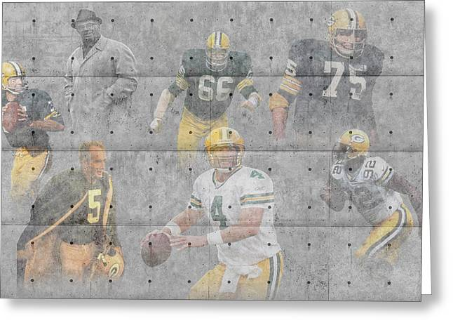 Green Bay Packers Legends Greeting Card