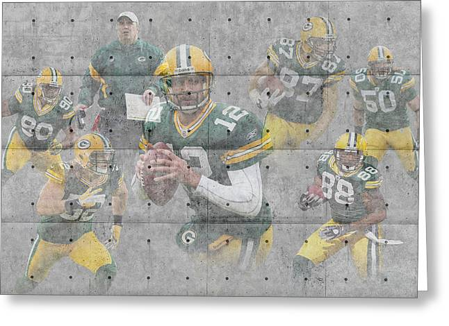 Green Bay Packers Team Greeting Card by Joe Hamilton