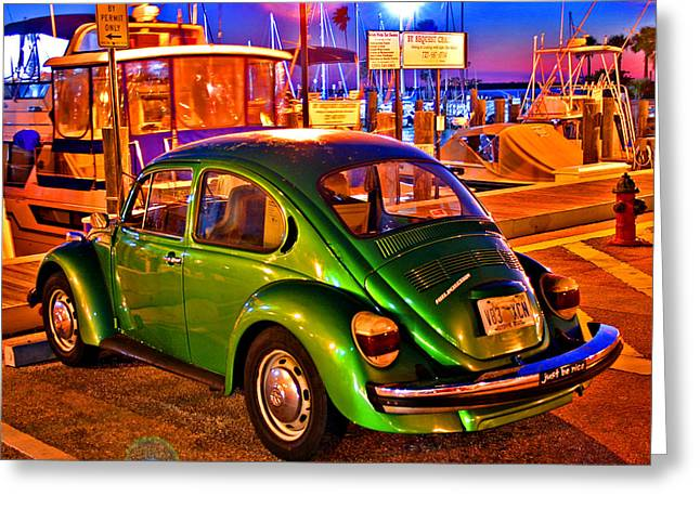 Greeting Card featuring the photograph Green Beetle by Christopher McKenzie