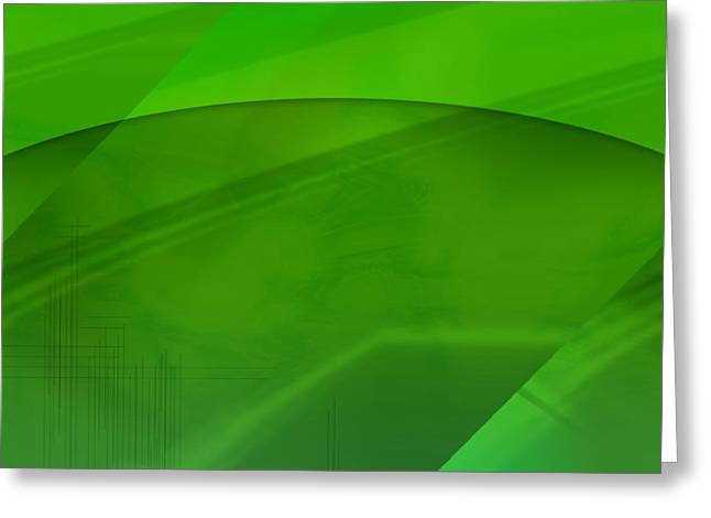 Green Computer Generated Background Greeting Card by Tim Antoniuk