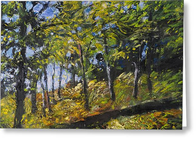 Green Day Paintings Greeting Cards - Green day Greeting Card by Jack Tzekov