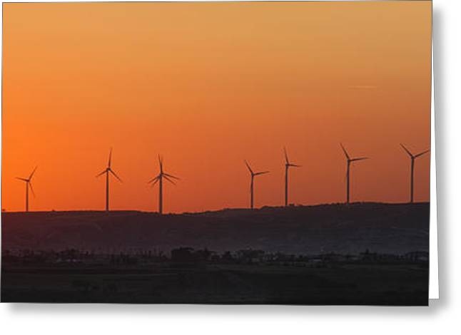 Green Energy Greeting Card by Stelios Kleanthous