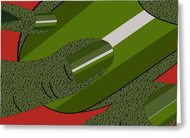 Green Fickle Fingers Of Faith Greeting Card by Charles Smith