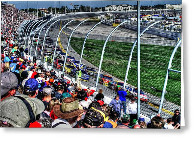 Green Flag 2010 Daytona 500 Greeting Card