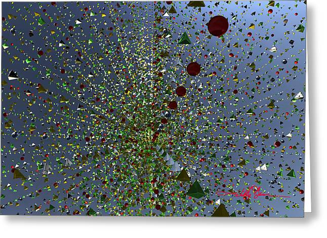 Green Geometric Blast Greeting Card