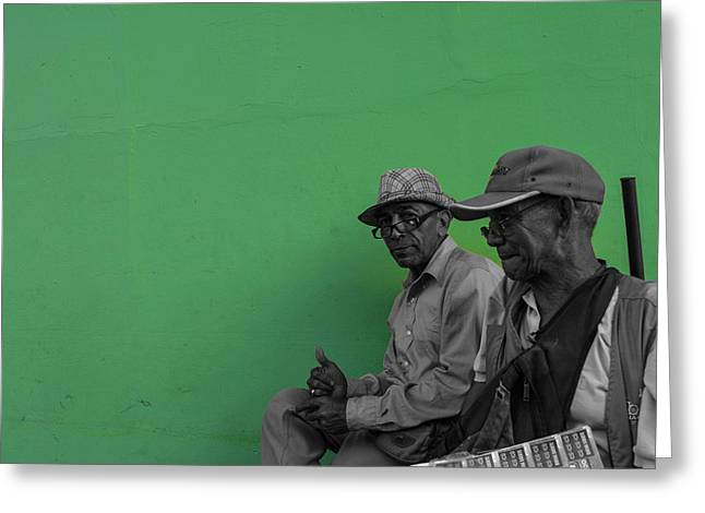 Green Granada Greeting Card