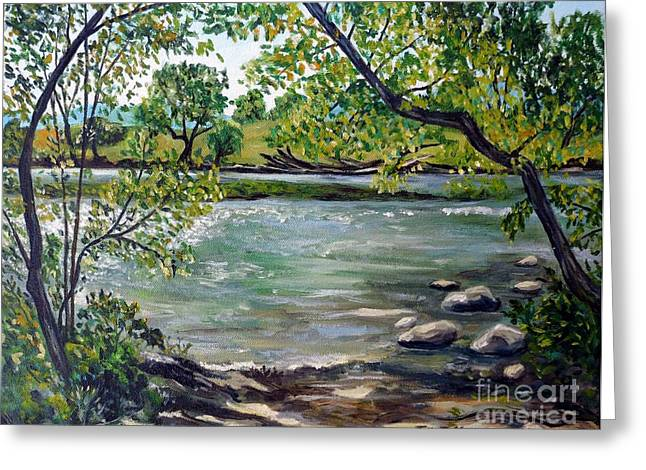 Green Hill Park On The Roanoke River Greeting Card
