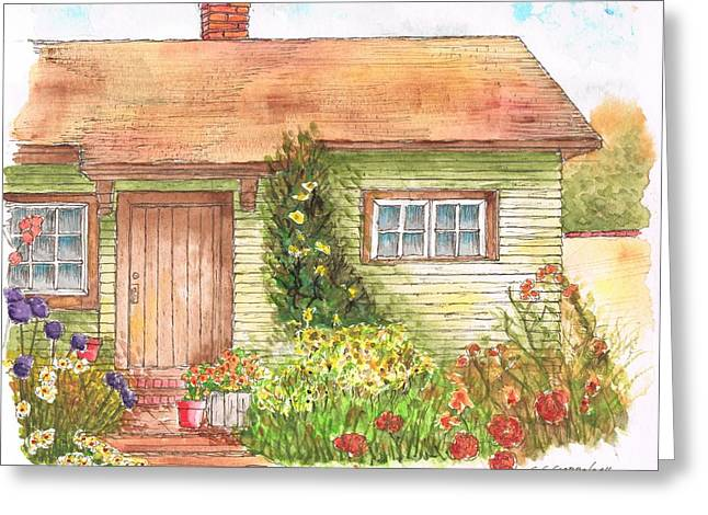 Green House Greeting Card by Carlos G Groppa