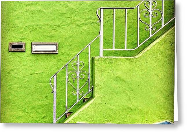 Green House  Greeting Card by Julie Gebhardt