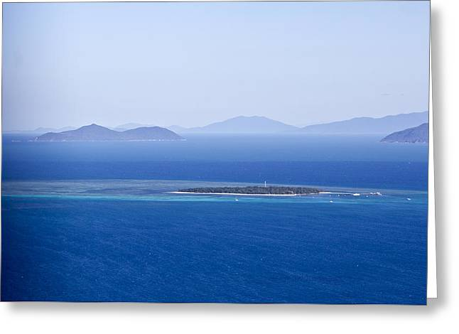 Green Island With Fitzroy Island In The Back Ground Greeting Card