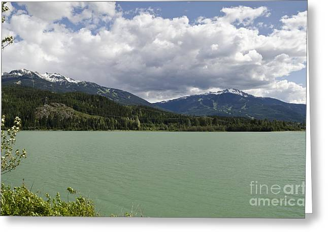 Greeting Card featuring the photograph Green Lake At Whistler by Maria Janicki