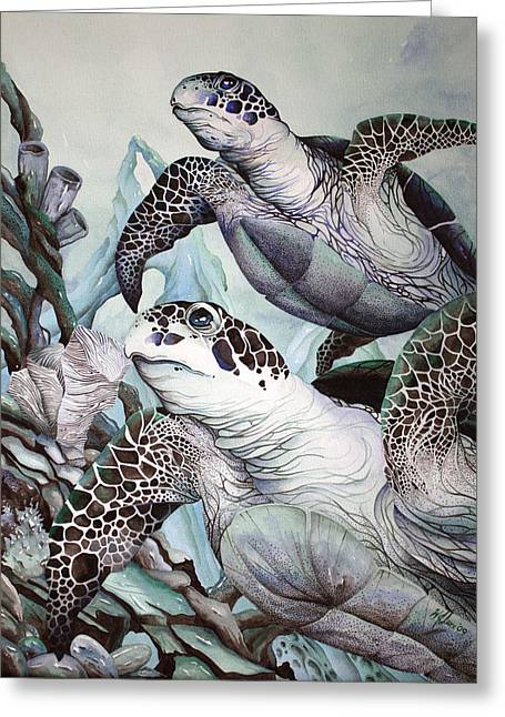Green Loggerhead Greeting Card
