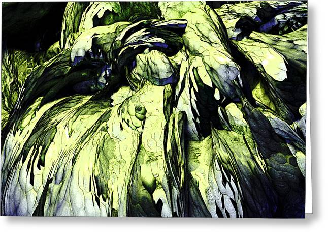 Greeting Card featuring the digital art Green by Matt Lindley