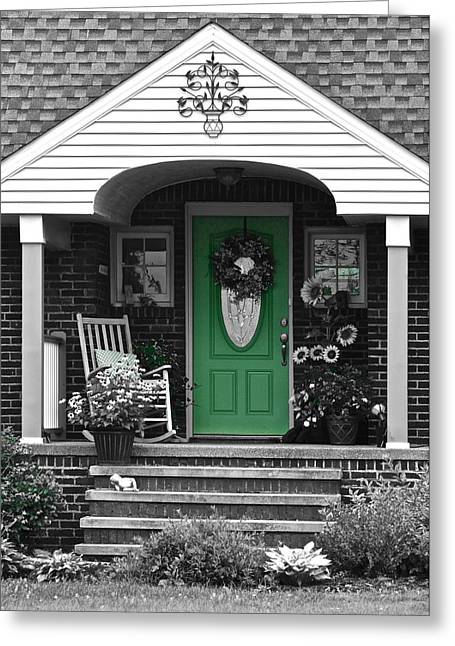 Green Means Go Greeting Card by Frozen in Time Fine Art Photography