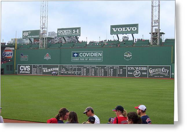 Green Monster Greeting Card by Catherine Gagne