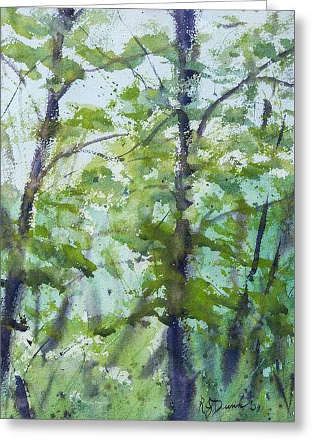 Green Morning 2 Greeting Card