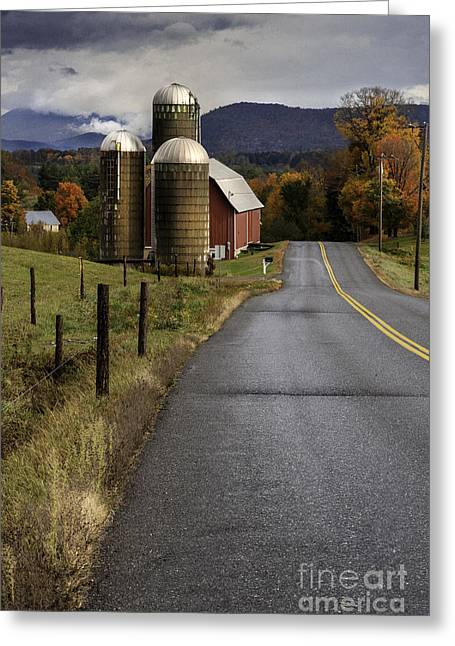 Green Mountain Country Roads Greeting Card by Thomas Schoeller