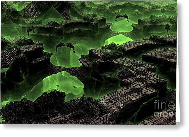 Green Odyssey Greeting Card by Bernard MICHEL