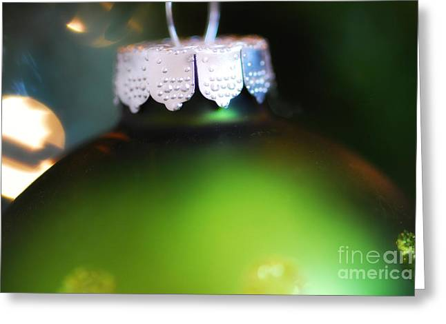 Green Ornament  Greeting Card by Birgit Tyrrell