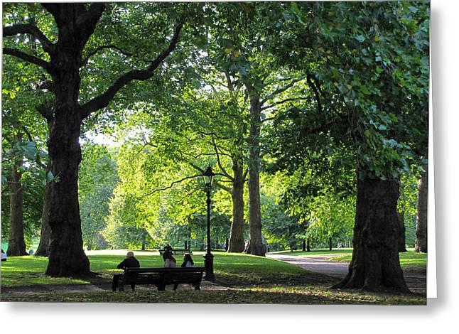 Green Park Greeting Card by Karen E Phillips