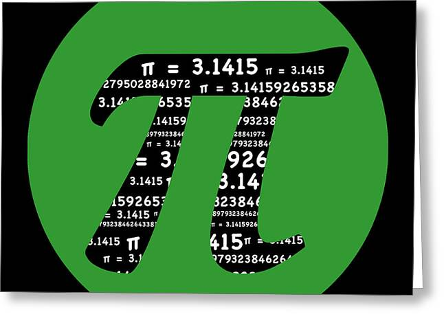 Green Pi Greeting Card