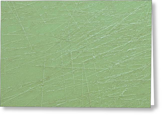 Green Plastic Greeting Card by Tom Gowanlock