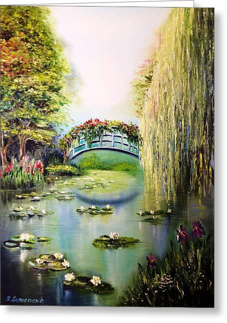 Green Pond Greeting Card by Svetlana Semenova