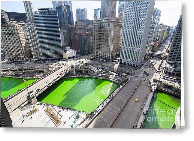 Green River Chicago Greeting Card by Jeff Lewis