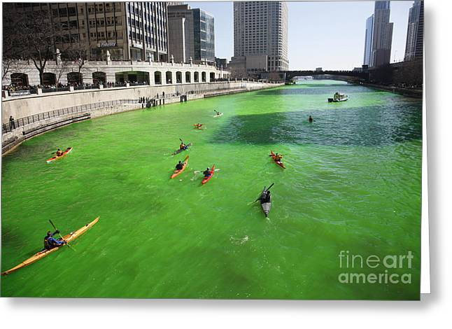 Green River Chicago Greeting Card by Martin Konopacki