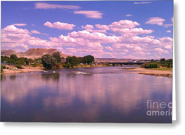 Greeting Card featuring the photograph Green River by Chris Tarpening