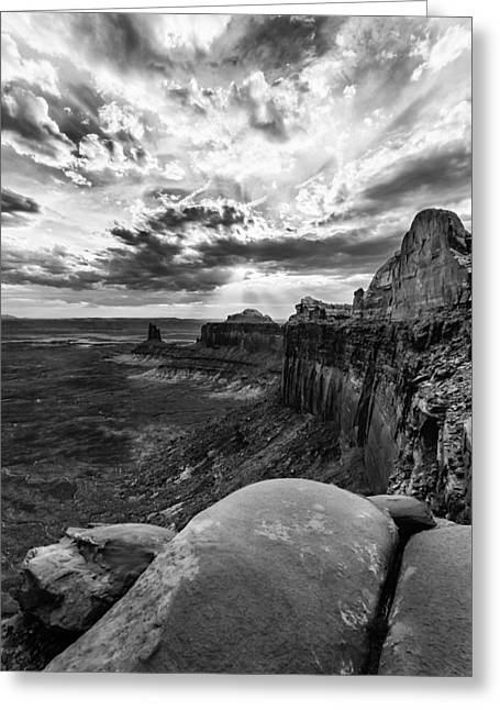 Greeting Card featuring the photograph Green River Overlook by Jay Stockhaus