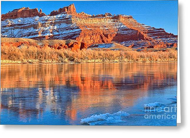 Green River Pastels Greeting Card by Adam Jewell
