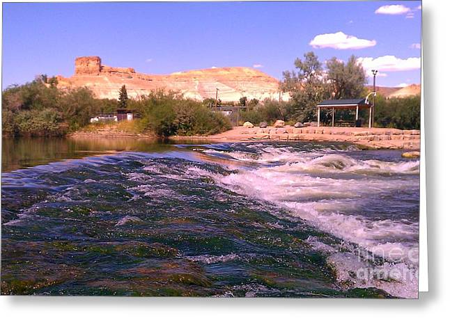 Greeting Card featuring the photograph Green River Rapids by Chris Tarpening
