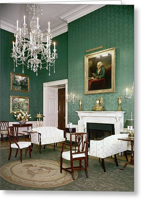 Green Room In The White House Greeting Card