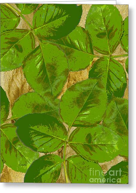 Green Rose Clippings 2 Greeting Card