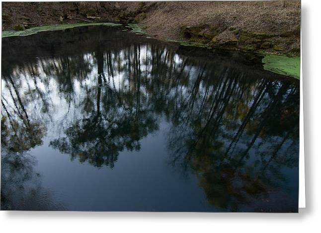 Greeting Card featuring the photograph Green Sink Reflection by Paul Rebmann