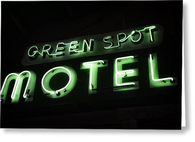 Green Spot Motel Greeting Card