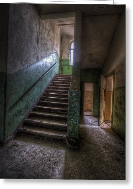 Green Steps Greeting Card by Nathan Wright