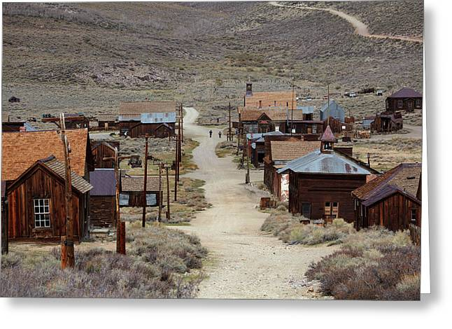 Green Street, Bodie Ghost Town Greeting Card by David Wall