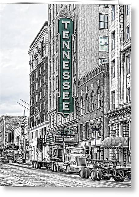 Green Tennessee Theatre Marquee Greeting Card
