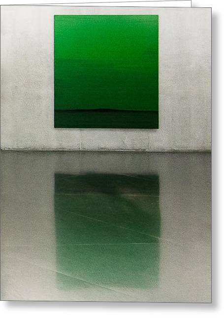 Green Greeting Card by Toni Guerra