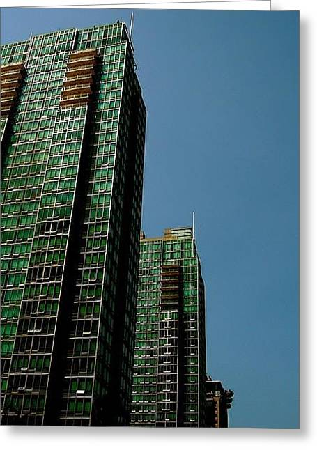 Green Vancouver Towers Greeting Card
